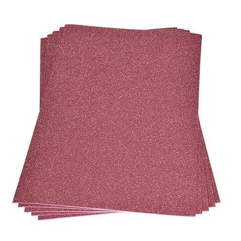 Moosgummiplatte Glitter 200 x 300 x 2 mm rosa