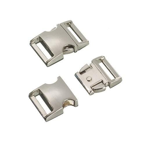 Klickschnalle Metall 20 / 25 mm 1 Stk. silber glänzend