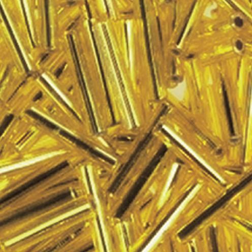 Stiftperlen Silbereinzug ø 2 x 11 mm 500 g gelb