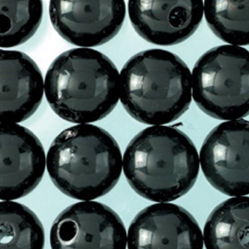 Wachsperlen ø 6 mm 60 Stk. schwarz
