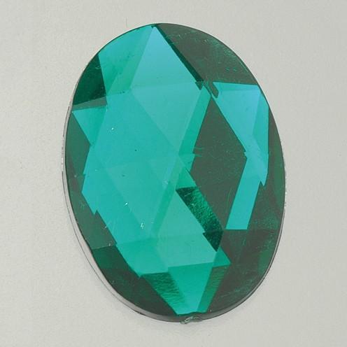 Schmucksteine Acryl facettiert Set Oval 8x10 / 10x14 / 13x18 / 18x25mm 30 / 10 / 10 / 2 Stk. grün