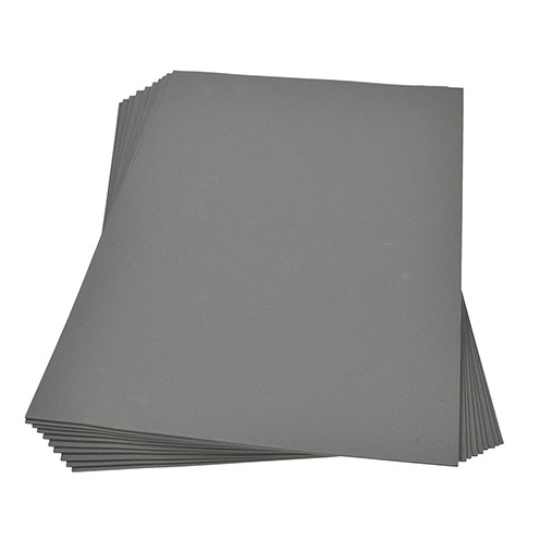 Moosgummiplatte 300 x 450 x 2 mm grau