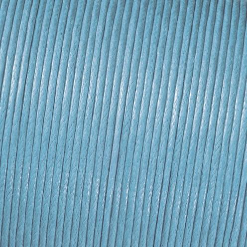 Baumwollkordel gewachst ø 2,0 mm hellblau