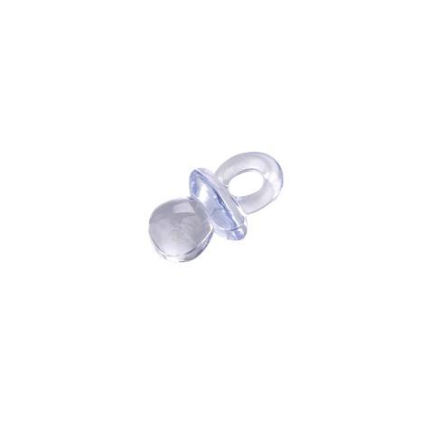 Babyaccessoire Acryl Schnuller 20 x 12 mm 10 Stk. hellblau