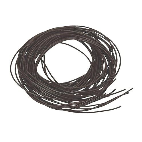 Ziegenlederriemen ø 1,5 mm 1 m dunkelbraun