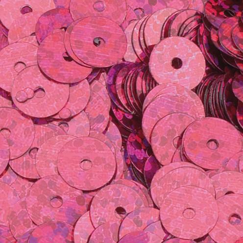 Pailletten, rund, flach ø 6 mm 40 g / ~4.000 Stk. pink hologramm