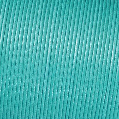 Baumwollkordel gewachst ø 1 mm helltürkis