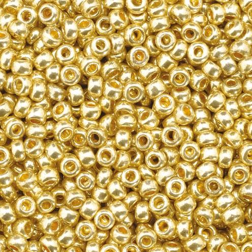Indianerperlen metallic ø 2,2 mm 17 g gold