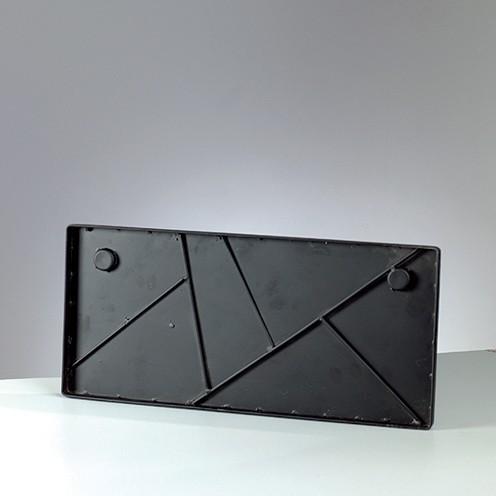 Mosaix Schild / Platte 50 x 23 cm schwarz