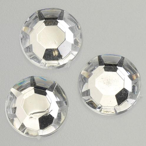 Schmucksteine Acryl facettiert Chatonrosen 12 mm 75 Stk. kristall