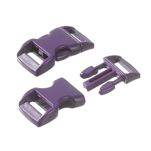 Klickschnalle 11 / 14 mm 10 Stk. lila